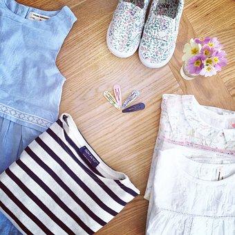 Shoe, Dress, Flowers, Primroses, Barrettes, Girls