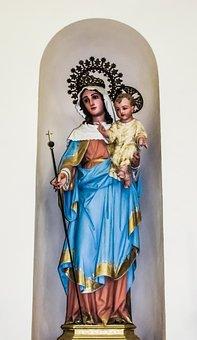 Virgin Mary, Jesus Christ, Statue, Terra Santa
