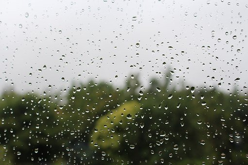 Raindrops, Window, Rainy Day, Water, Glass, Weather