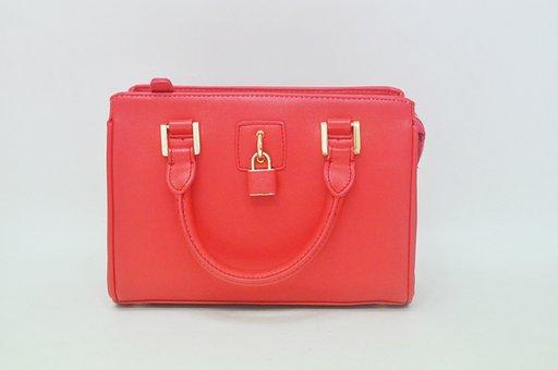 Bag, Crimson, Product Photos, Padlock Bag, Women Bags