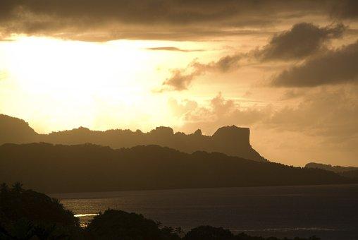 Micronesia, Sunset, Sky, Clouds, Colorful, Beautiful