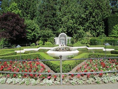 Star Pond, Garden, Public, Botanical, Butchart