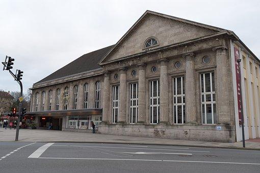 Railway Station, Wuppertal, Barmen, Railway, Building