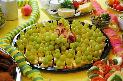 Buffett, Grapes, Cheese, Food, Delicious