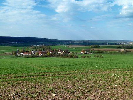 Krolpa, Germany, Village, Landscape, Scenic, Fields