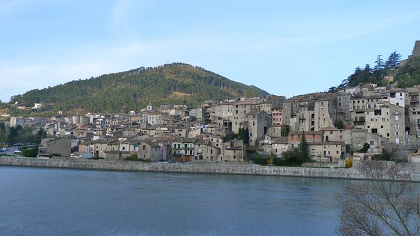 Landscape, Old Town, Haute Provence, Sisteron