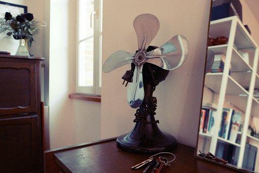 Fan, Keys, Mirror, House, Indoors