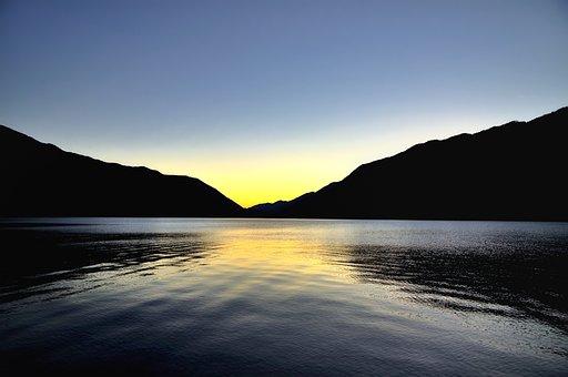 Lake, Mountain, Hills, Water, Reflection, Landscape