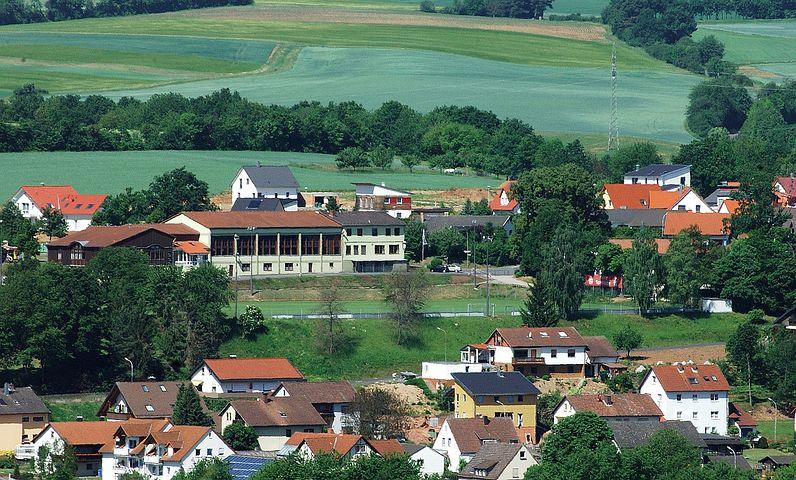 Burglauer, Germany, Town, Village, Landscape, Scenic