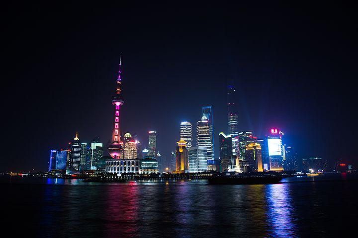 Late Into The Night, Shanghai, City, Light, View
