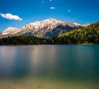 Lautersee, Munich, Lake, Water, Landscape, Nature, Sky