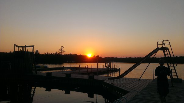 Sunset, Camp White Pine, Haliburton, Ontario, Canada