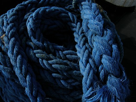 Rope, Cable, Ship, Blue, Rotterdam, Ropes