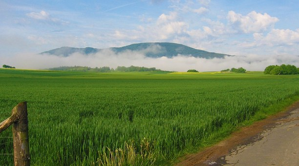Germany, Landscape, Mountains, Sky, Clouds, Scenic, Fog