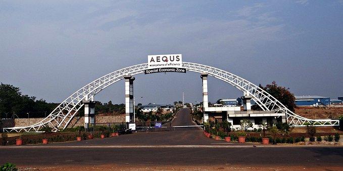 Aequs, Sez, Economic Zone, Manufacturing, Entrance Gate