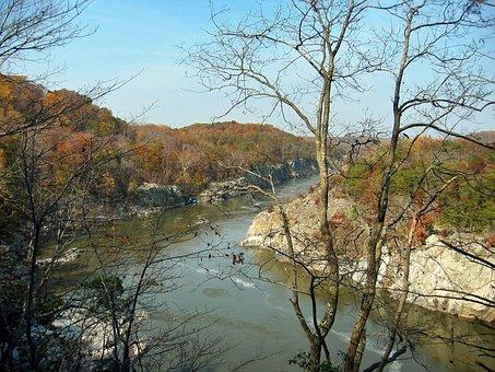 Virginia, Mather Gorge, Landscape, Scenic, Fall, Autumn