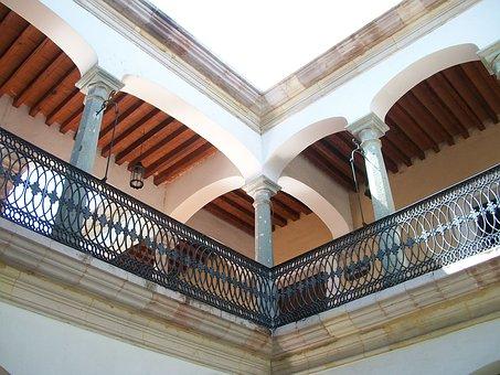 Balcony, Building, Colonial, Columns, Balustrade