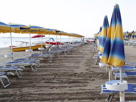 Beach, Summer, Beach Umbrella, Shadow, Sun, Holiday
