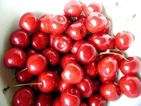 Bowl, Fruit, Cherry, Fruits, Plants, Flora