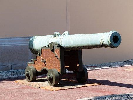 Gun, Bronze Cannon, Bronze, Metal, Weapon