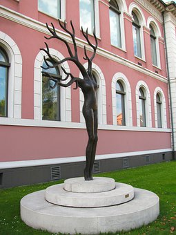 Oldenburg, Germany, Building, Architecture, Statue