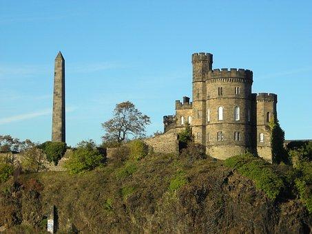 Castle, Calton Hill, Scotland, Tower