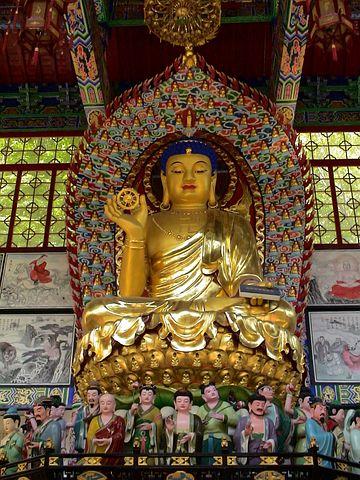 Buddah, Statue, Gold, China, Fengcheng, Monastery