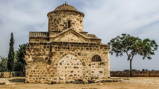 Cyprus, Vrysoules, Ayios Georgios Acheritou, Church