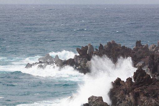 Sea, Rock, Coast, Beach, Water, Booked, Island