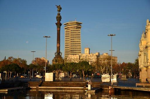 Barcelona, Colon, Port, Spain, Colon Statue