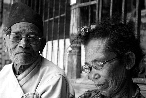 Nepal, Elderly, Couple