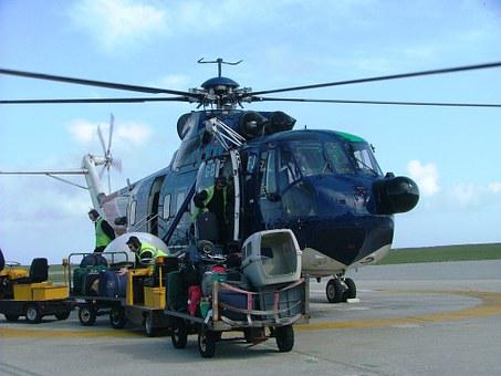 Helicopter, Scilly Isles, Scilly, South, West, Uk
