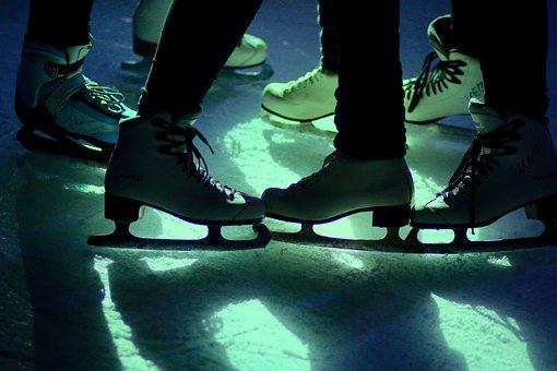 Ice Disco, Light, Skates, Ice