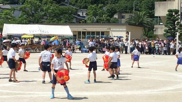 Spring, Sports Day Festival, Apartment, Japan