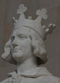 Charles The Great, Statue, Crown, Man, Fig, King
