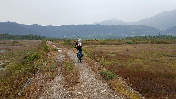 Travel, Bike, Montenegro, Tivat, Track, Landscape