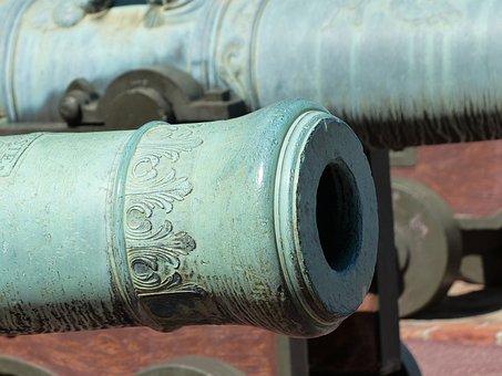 Barrel Of A Gun, Gun, Bronze Cannon, Bronze, Metal