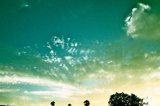 Sky, Open Sky, Blue Sky, Dusk, Magic Hour, Twilight