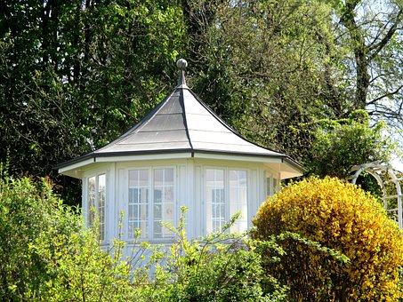Provides, Pavilion, Trees, Shrubs, Rest, Beautiful