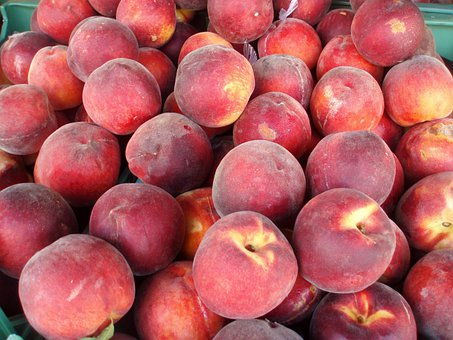 Peaches, Delicious Peaches, Peach, Sweet, Red