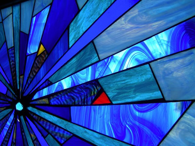 Tiffany, Glass, Stained Glass, Glass Window, Glass Blue