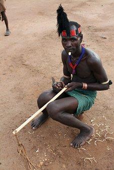 Warrior, Hamar, Ethiopia, Africa, African People
