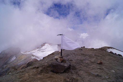 White Flag, Summit, Iztaccíhuatl, Mountain