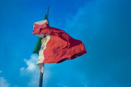 Flag, Mexico, Wind, Flag Of Mexico, Sky, Mexican Flag