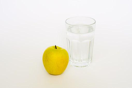 Apple, Glas, Water, Diet, Eating, Weight, Healthy, Loss