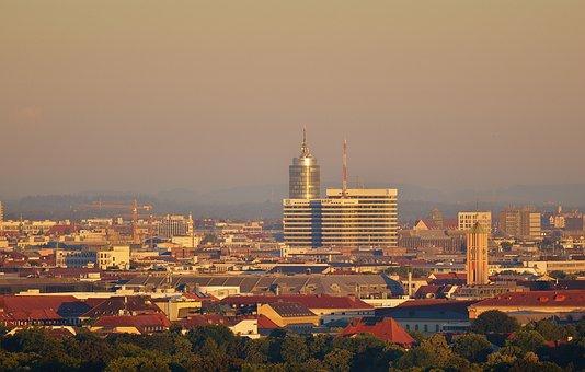 Bavarian Radio, Ard, Building, Munich, City