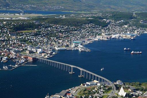 View, Bridge, City, Tromso Bridge, Norway