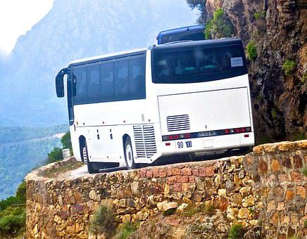 Bus, Cliff, Narrow, Corsica, Edge, Dangerous