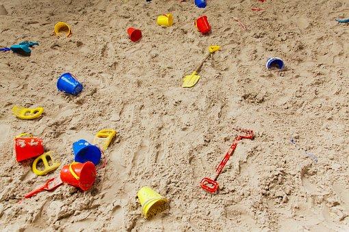 Childhood, Sand Pit, Plastic, Play, Playground, Sand