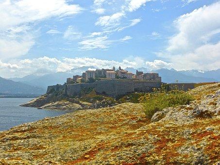 Calvi, Citadel, Corsica, Fortress, Ancient, Port